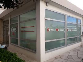 vitrine découpe vinyle centre de soins