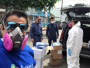 Apoyo en bioseguridad para la cárcel de Villavicencio
