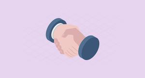 handshake customer relationship marketing CRM