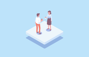 establish trust open door policy two people having conversation