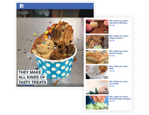Wix users' stories on Facebook