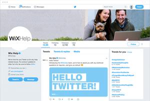 wix help twitter account