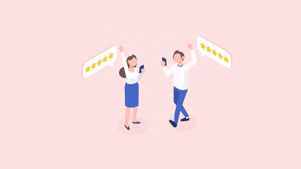 improve customer satisfaction reviews image