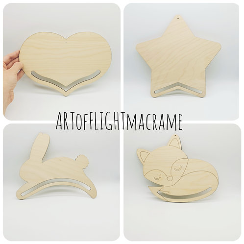 Fibre art forms // Birch plywood macrame wood blanks