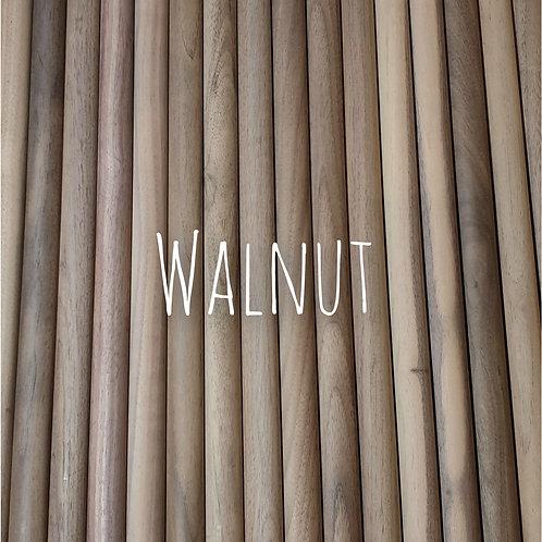 Walnut wood dowels 35cm