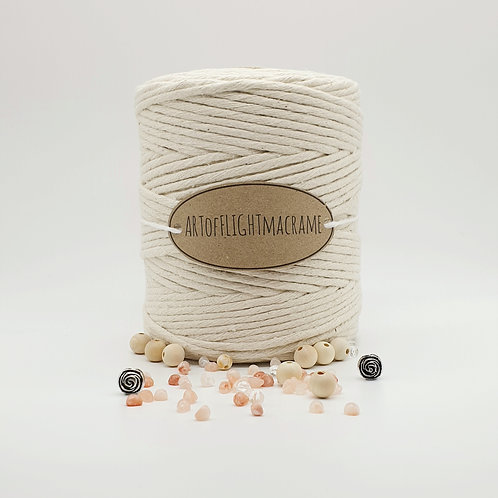 4 mm single twist natural macrame cord