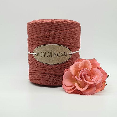 4 mm single twist Terracotta macrame cord
