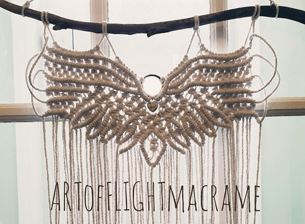 macrame wall hanging eagle