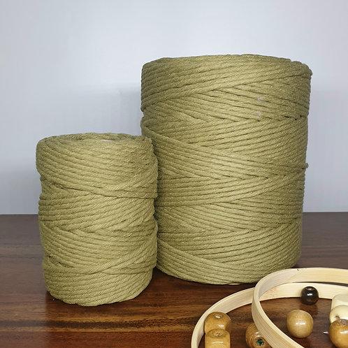4 mm single twist Olive macrame cord