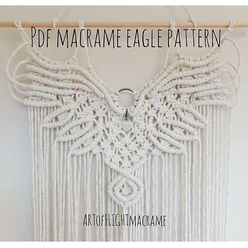DIY macrame eagle digital download