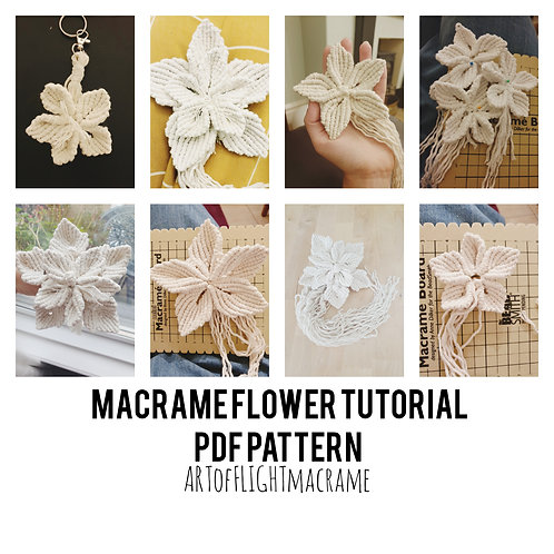 DIY macrame flowers / PDF digital download