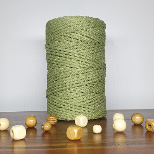 4mm 3 ply macrame cord sage green / 100 meters