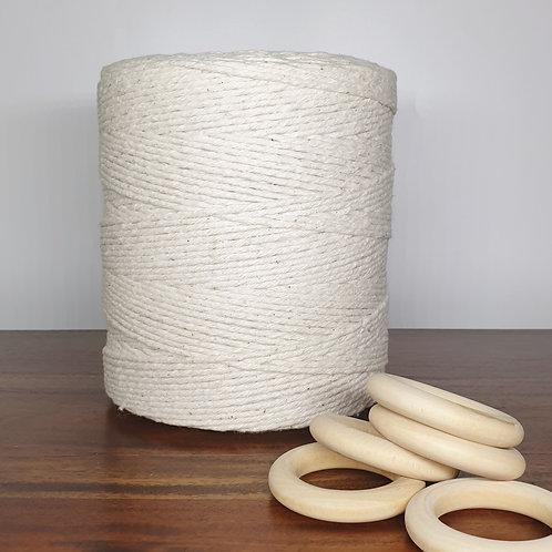 2.5 mm single twist natural macrame cord