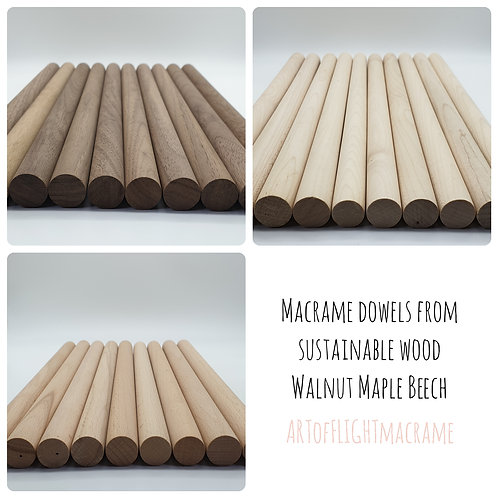 Sustainable wood dowels