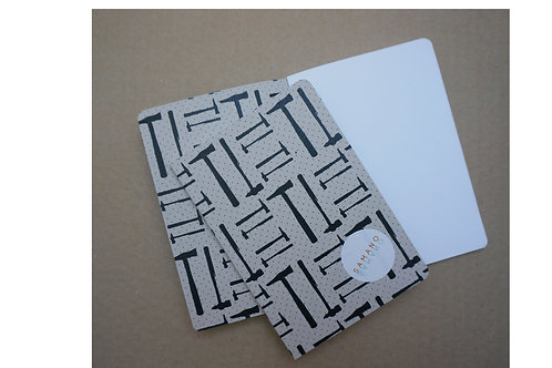 Notebook Tools grå botten A6. Rundade hörn.