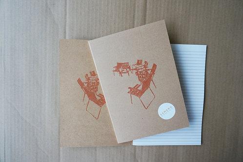 Notebook stolar A5 Röd