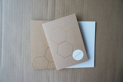 Notebook Hexagon brun A6