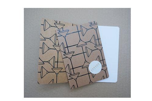 Notebook Shoemaker Svart/brun A6. Rundade hörn