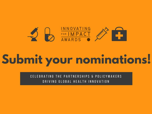 Submit your nominations for the 2020 Innovating for Impact Awards by July 31!