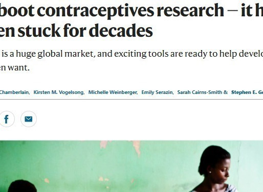 "New article in Nature is a clarion call to ""Reboot contraceptives research"""
