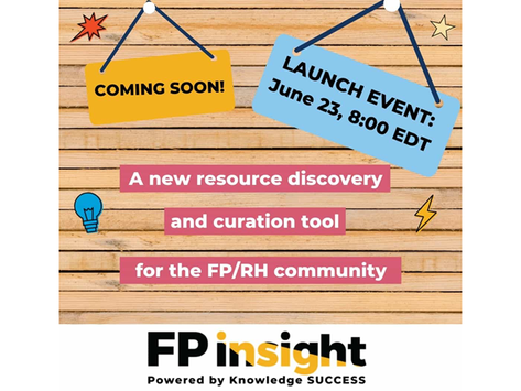 Knowledge SUCCESS Announces Launch of FP Insight