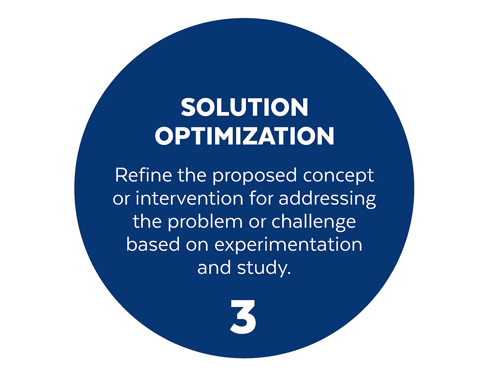 blue circle with number 3 Solution Optimization and brief description