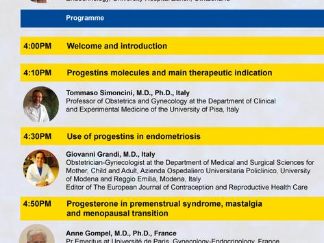 March 24 webinar on progesterone and progestins