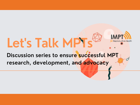 Let's Talk MPTs Talk Series Continues: Integrating Socio-behavioral & Market Research into MPT R&D