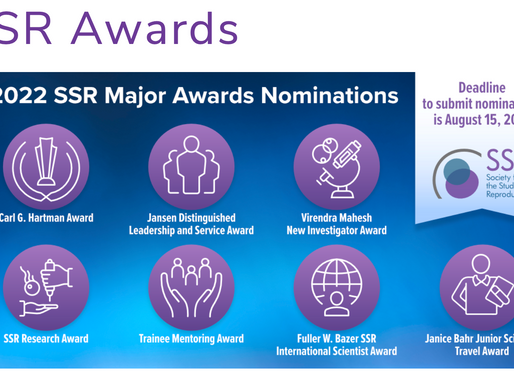 Deadline Approaching for the 2022 SSR Major Awards Nominations