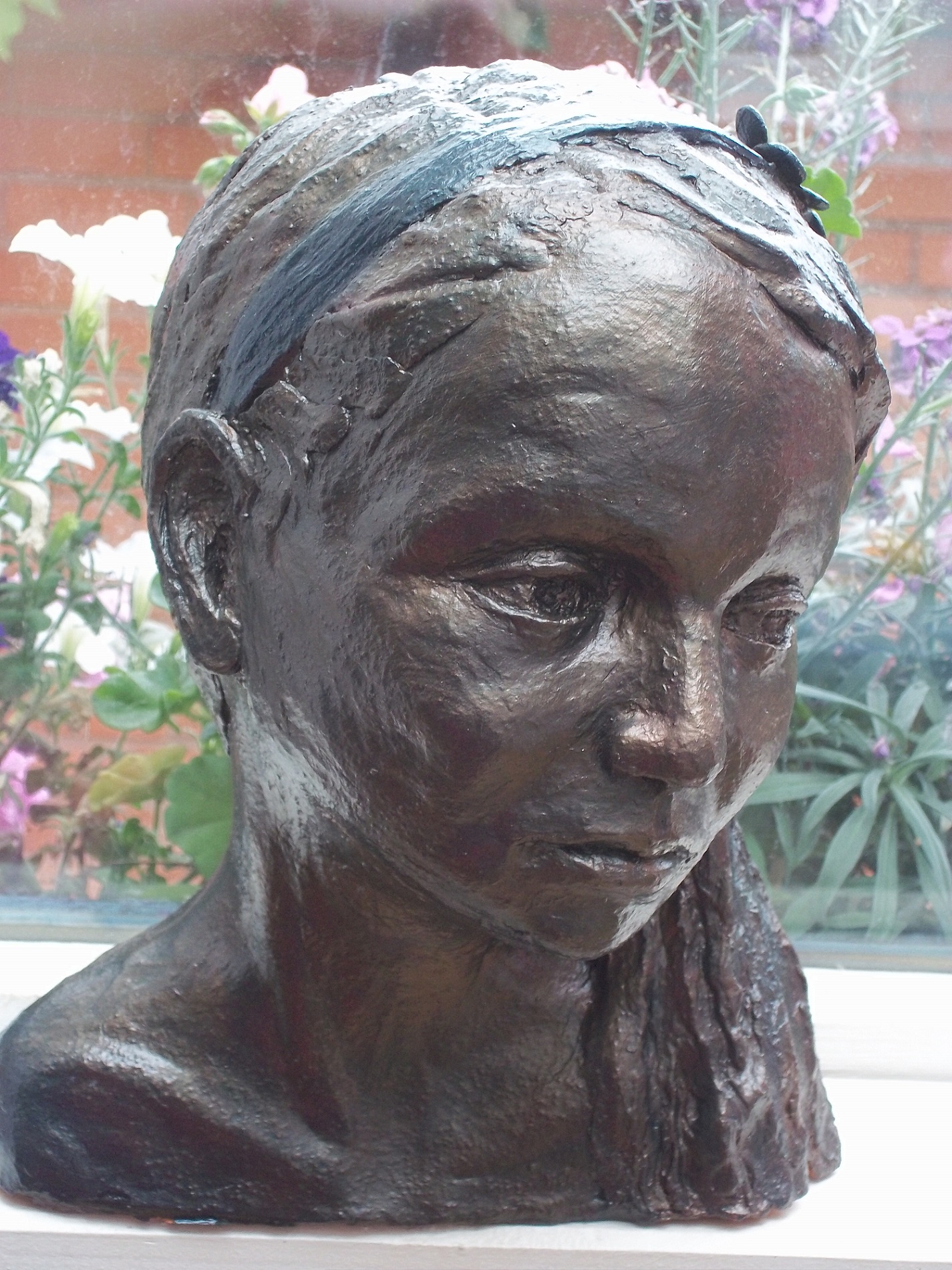 Charlotte, terracotta bronze finish