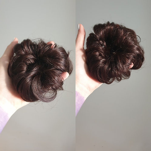 Scrunchie / Dark Brown European Hair