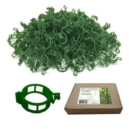 QueenBird Plant Clips - 200 PCS - Green - Box Packed - Garden Clips