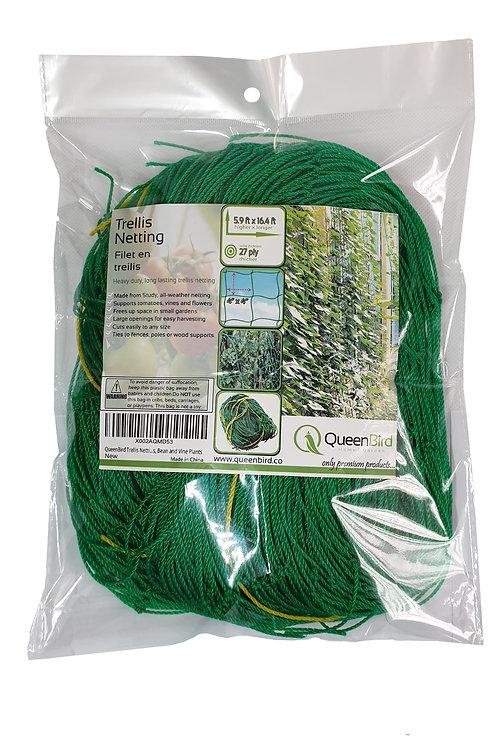 QueenBird Trellis Netting - Heavy Duty Garden Trellis Netting for Climbing Plant