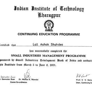 IIT Small Industry Setup
