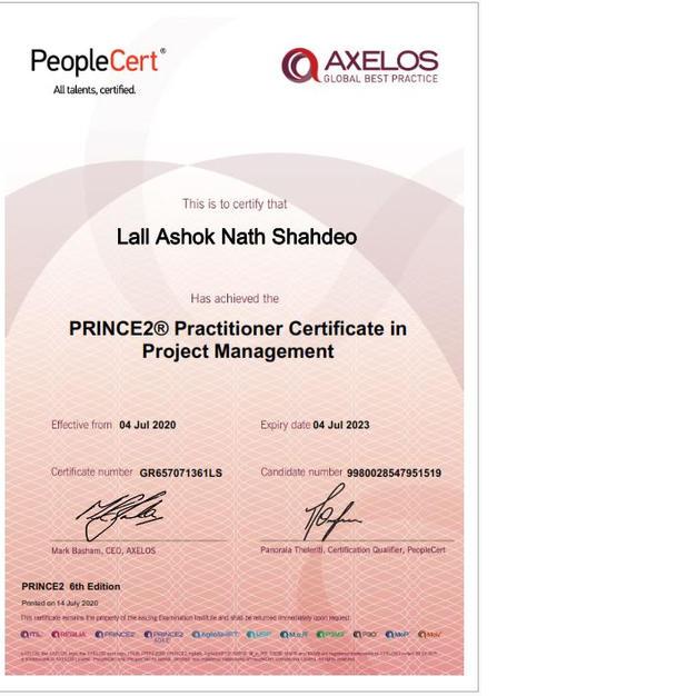 Prince 2 Practioner
