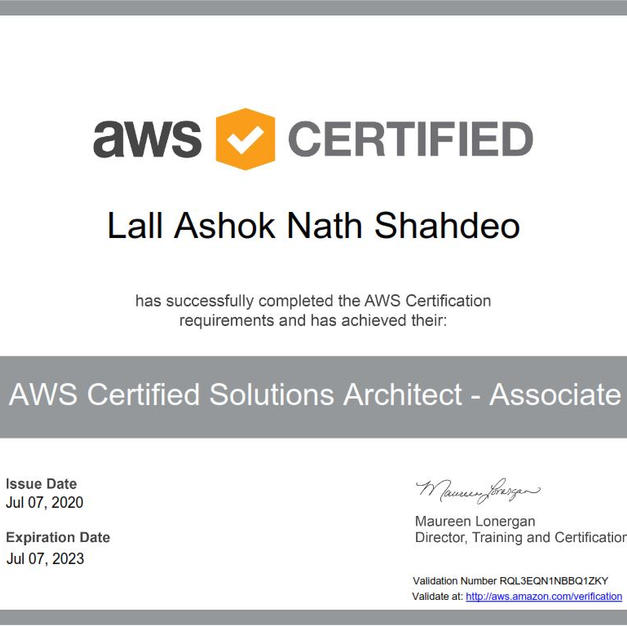 AWS Architect Associate