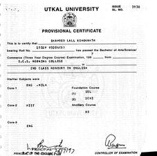 BA Pass Certificate