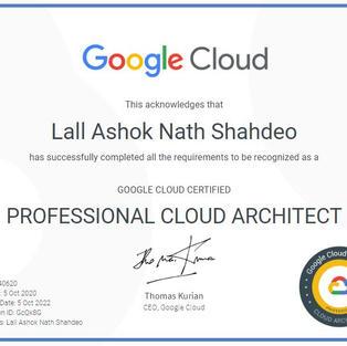 Google Architect Professional