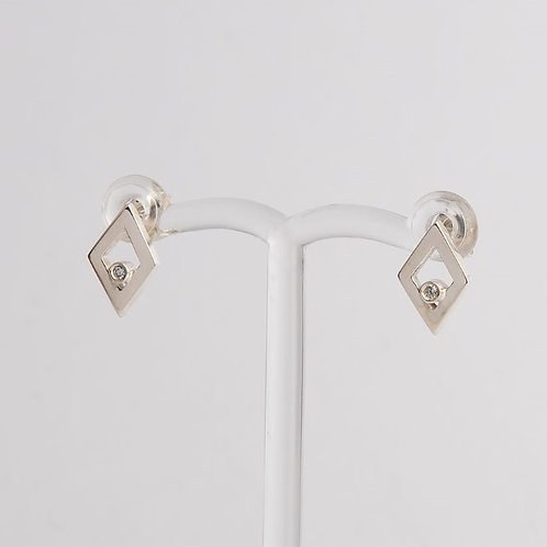 """Diamonds on Diamonds"" Diamond & Palladium Silver Studs"