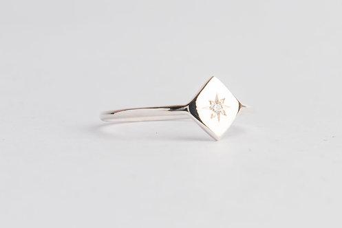"""Rise & Shine"" Diamond & Palladium Silver Ring"