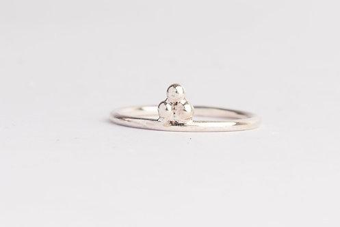"""Trifecta"" Palladium Silver Ring"