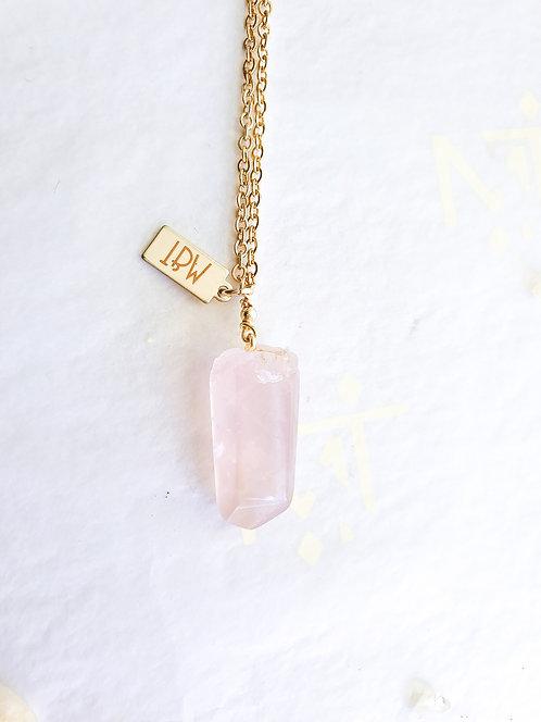 """""""Mini Gift"""" Rose Quartz Necklace"""