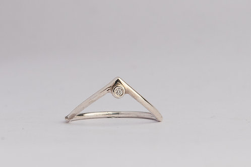 """High Hopes"" Diamond & Palladium Silver Ring"