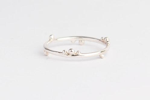 """""""Blossom"""" Palladium Silver Ring"""