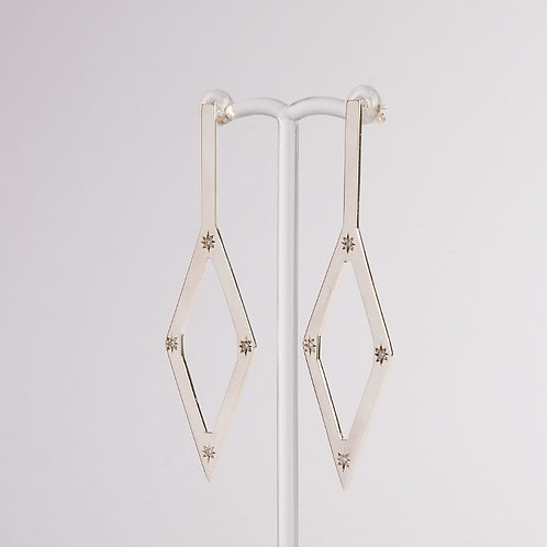 """Hot Pursuit"" Diamond & Palladium Silver Earrings (MADE TO ORDER)"