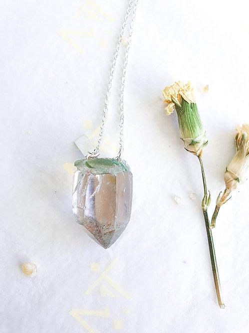 """Mini Gift"" Smokey Quartz with Chlorite Necklace"