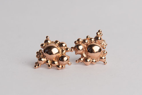 Micelle Studs Solid 9CT Gold + Palladium Silver