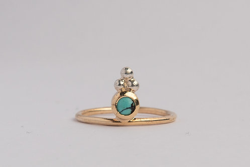 """Blessings"" Solid 9ct Gold & Turquoise Ring (MADE TO ORDER)"