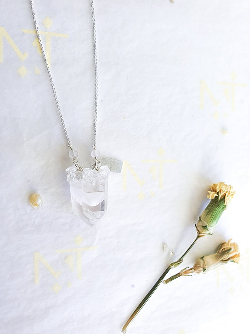 """Mini Gift"" Clear Quartz Phantom with Sterling Silver Chain (2)"