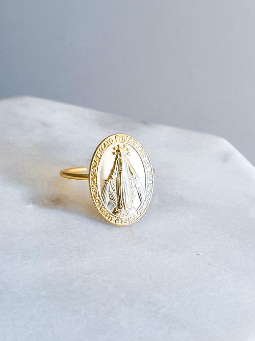 Carved Token Adjustabe Ring